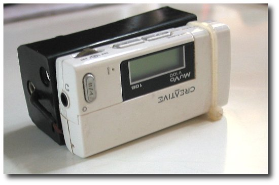 Image of The fully modded Creative Muvo Mp3 Player - Months of music play