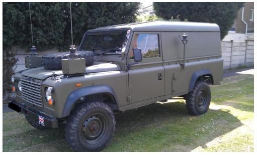 Ex Army Land Rover Defender FFR