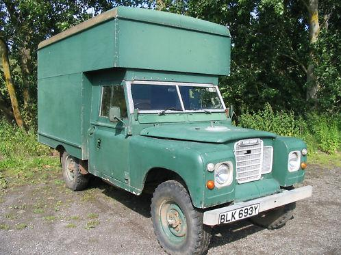 Land Rover with Luton body