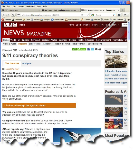 BBC article Conspiracy Theories