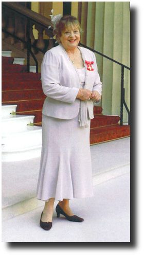 Sylvia Syms at her OBE award