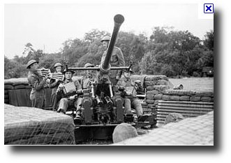 British Anti Aircraft Gun Crew