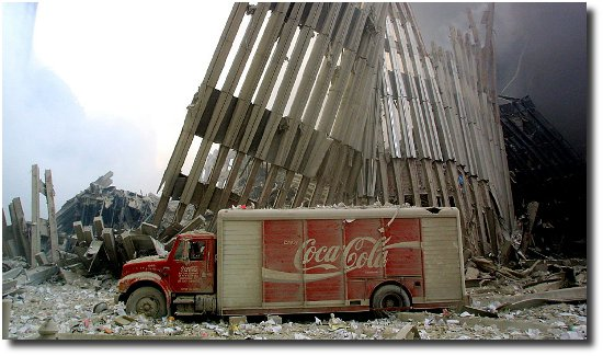 Coke truck and pancake