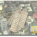 Fallen over buildings