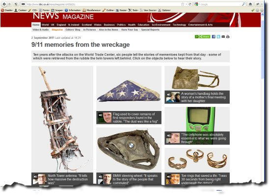 image of BBC webpage page