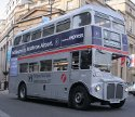 Image of London red Routemaster bus in Silver colour