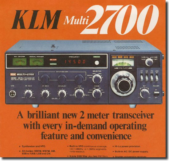 Image of the KLM Multi 2700 advert place in 73's magazine May 1977
