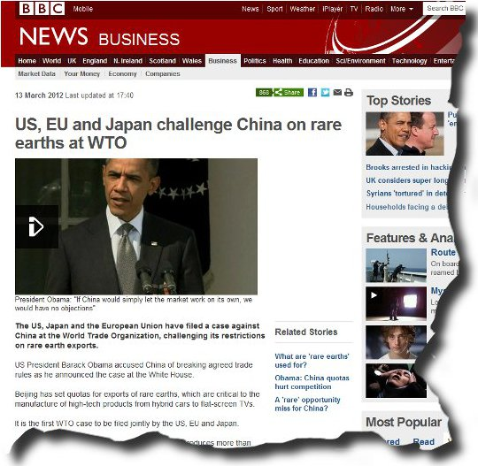 Image of BBC article Obama pops at China