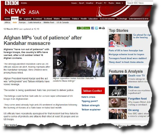 Image of BBC report Taliban Run Out of Pateince