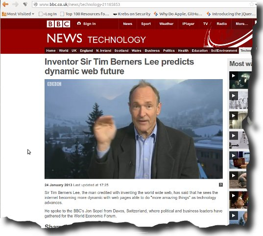 Image of Tim Berners Lee BBC Interview