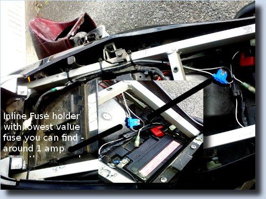 Image of wiring arrangement under ZZR Seat