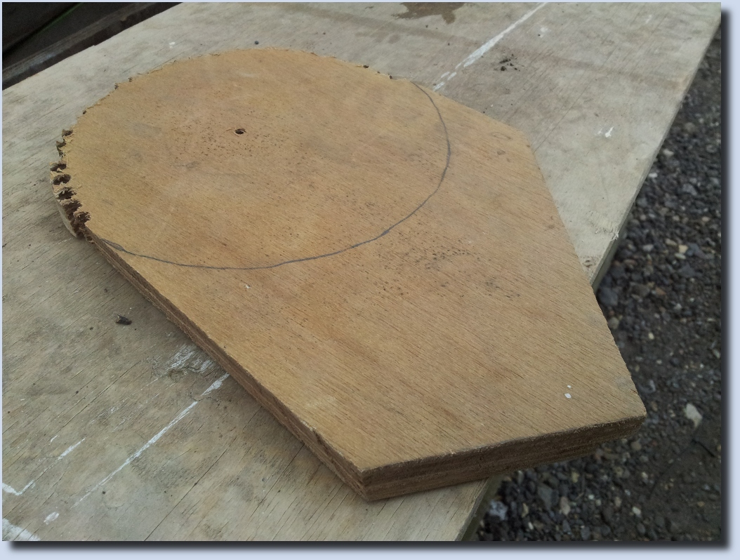 A better view of one side of the scrap ply - this is the side I chose to use as the finish side