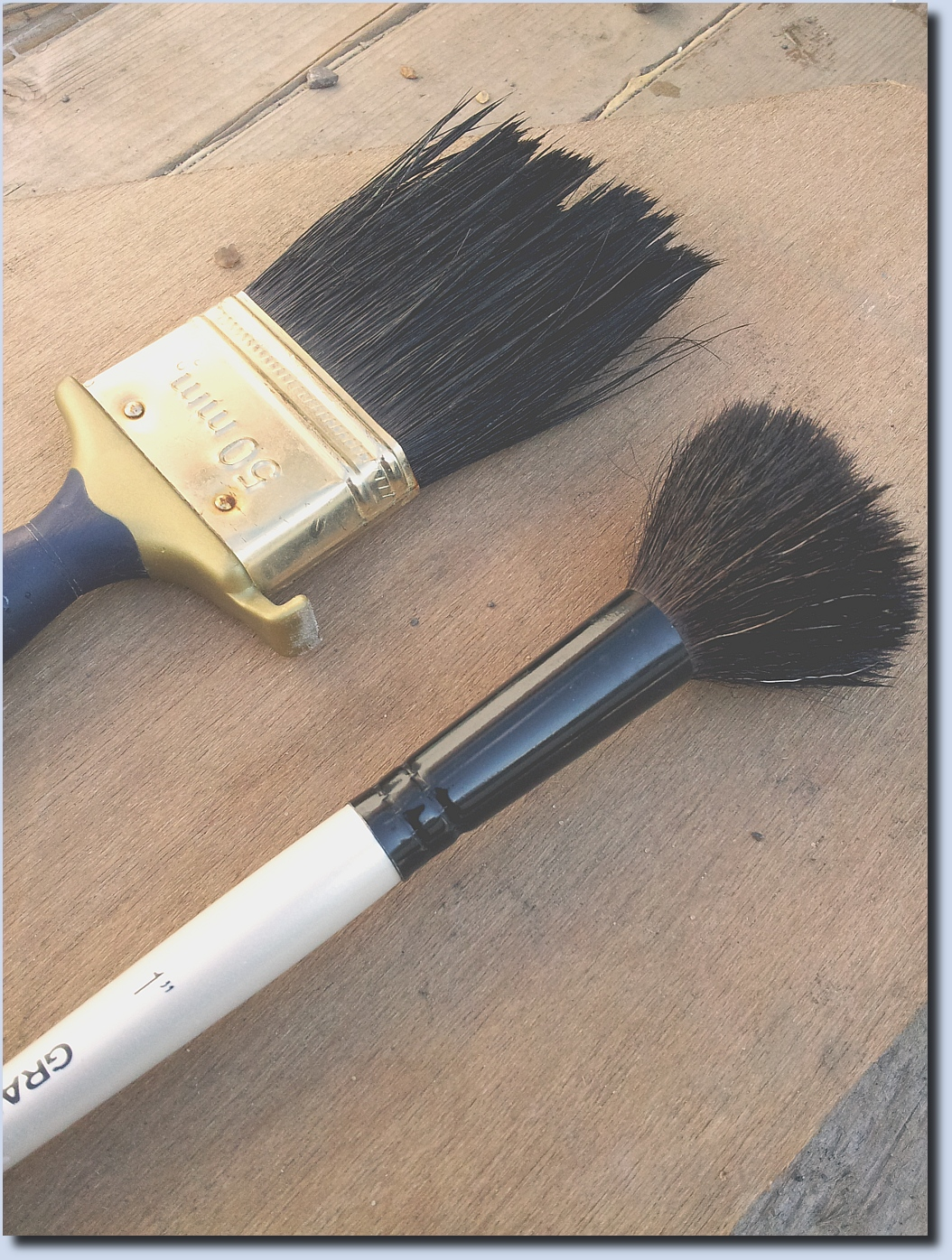 Image of two paint brushes