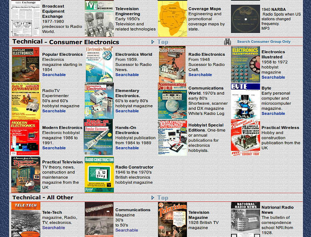 Image of American Radio History website